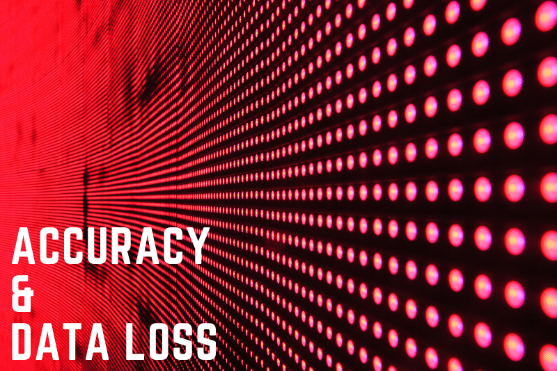 accuracy and data loss in GIS