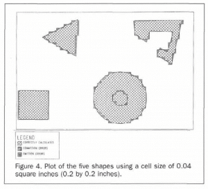 Shapes obtained using 0.04 square inch grid cells