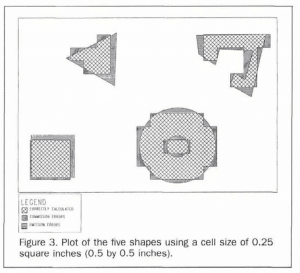 Shapes obtained using 0.25 square inch grid cells