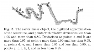 Fig. 5 Approximated centerline using digitization
