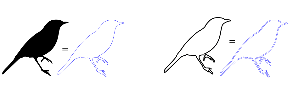 Vectorized outlines of birds